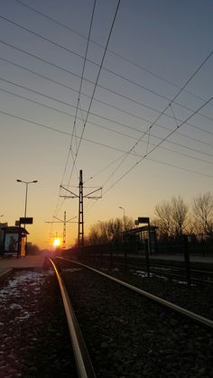#sunsets #kraków #street #sun #poland