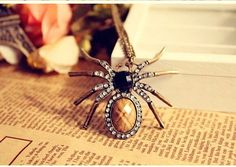 Fashion Jewelry Pendant Retro Spider Necklace by BEJEWELEDHEAVEN