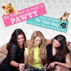 Be the first to host a For Tails Only™ Pawty! Contact an independent handler near you for more information! www.fortailsonly.com #fortailsonly #dogs #cats #pets #petlovers #opportunity #pawty #friends