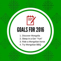 New Goals for 2016 !