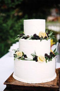italian wedding cakes white italian cake with greenry and lemons shehult