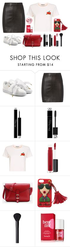 """Chata de Galocha - 19/05/2017"" by jessblock on Polyvore featuring Puma, Helmut Lang, Christian Dior, Fiorucci, MAC Cosmetics, NARS Cosmetics and Medusa's Makeup"