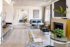 I'm in love with light wood herringbone floors.   Rafael de Cárdenas / Architecture at Large - Greenwich Residence