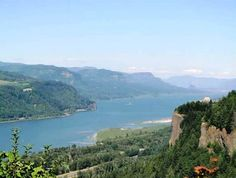 Columbia River Gorge National Scenic Area, Hood River, Oregon — by Courtney Jordan. Pretty look-out point along the Scenic Highway