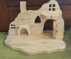 Natural Wooden Waldorf Gnome Home by Folkwood on Etsy