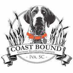 Logo for a local dog breeder specializing in German Short-Haired Pointers.