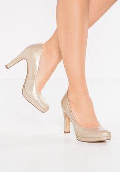 Tamaris High Heel Pumps - beige metallic für 31,95 € (27.10.17) versandkostenfrei bei Zalando bestellen.