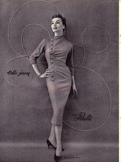 A fabulous vintage 'bodycon' dress! Fifties Fashion, Retro Fashion, Vintage Fashion, Womens Fashion, Club Fashion, Vintage Glamour, Vintage Beauty, 50s Glamour, Vintage Dresses