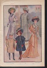 1910 FASHION DRESS COAT FLOWER CLOTHING GOWN CHILDREN AD