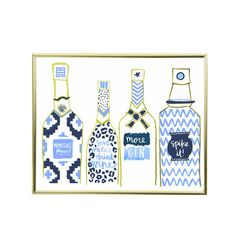 The Bar Cart Print, Summer Blues Edition Be an Adventurer **PINTEREST CHALLENGE: the most repinned spring|summer print by midnight thursday will be 40% off ALL weekend! Repin your favorite from pinterest.com/evelynhenson