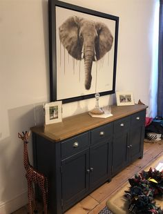 Westcote Blue Extra Large Sideboard - The Cotswold Company Vintage Bedroom Furniture, Sideboard Furniture, Upcycled Furniture, Dining Room Furniture, Painted Furniture, Diy Furniture, Restoring Furniture, Large Sideboard, Furniture Restoration