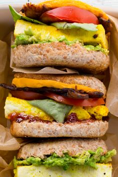 "Vegan Breakfast Sandwiches with ""Eggy"" Tofu and All the Goodies"