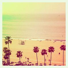 pastel beach - Santa Monica, California by @freshgyspy on Instagram