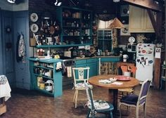 Monica's kitchen from Friends. I always liked how chaotic and lived-in it looked.