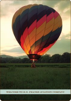 R.O. Franks Aviation Company -- hot air balloon rides over the Blue Ridge mountains at sunrise.... is there anything that could possibly be better?