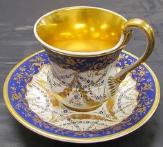 KPM  Berlin Porcelain (Germany) — Tea Cup and Saucer, c.1930