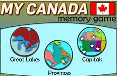 APP to play this memory game and become a Canadian geography pro.