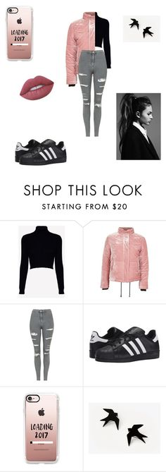 """""""Dunno 🤷🏻♀️."""" by a7lamalmaz ❤ liked on Polyvore featuring Jack Wills, Topshop, adidas Originals, Casetify and Lime Crime"""