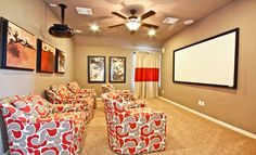 Media Room from Village Builders in Texas!