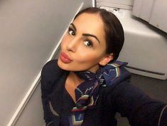 Consider a photo stewardess airline Bulgaria Air - Peti Stoyanova. Here are a photo in uniform, as well as in everyday life. The Most Beautiful Girl, Beautiful Eyes, Beautiful Women, Delta Flight Attendant, Airline Reservations, Airline Uniforms, Military Women, Brunette Girl, Cabin Crew