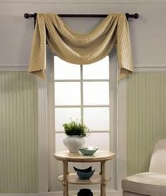 how to use scarf valance. exactly what i want for the kitchen