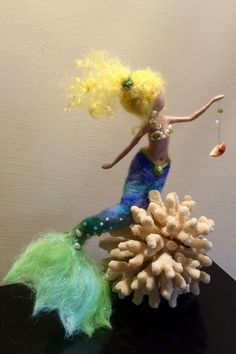 Needle felted mermaid
