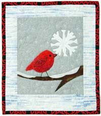 This is a cute free download pattern. Free Winter Quilt Pattern: Tweety's Snowflake | December/January 2014 | Quilters Newsletter