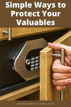 Simple Ways to Protect Your Valuables Against Burglars - Mom Does Reviews Household Insurance, Cash Safe, Grace Home, Video Surveillance Cameras, Alarm Systems For Home, Household Items, Simple Way, Home And Living, Mom
