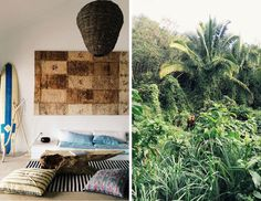 Love the comfy throw pillows and all the natural elements....inspiring for our living room with the fireplace!