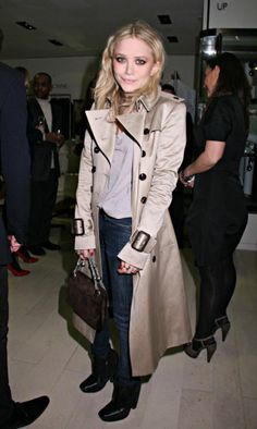 MK Olsen knows how to wear her trench. 30 more ways to wear the timeless topper here.