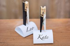 5 wedding name holders with stand Mr and Mrs table decor