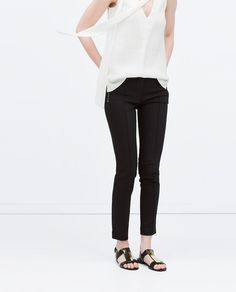 Image 3 of SKINNY TROUSERS WITH ZIPS from Zara