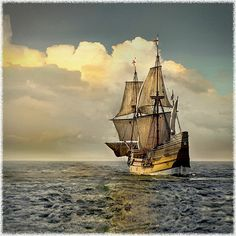 2020 will mark the anniversary of the landing of the Mayflower on Cape Cod. Most of us connect this event with Plymouth, Massachusetts, but the ship first made landfal… Patriotic Images, May Flowers, Sky And Clouds, History Facts, Pilgrimage, Vintage Images, American History, New England, Boats