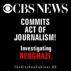 Standing Ovation for CBS NEWS! Second day in a row of HOLDING THE OBAMA ADMINISTRATION accountable. Sunday and Monday: BENGHAZI. Today? OBAMACARE: