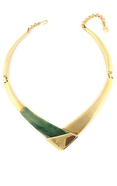 Shop House Of Lavande Pierre Cardin Signed Collar Necklace by House of Lavande for Preorder on Moda Operandi