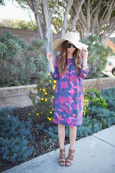 DIY FRIDAY: TROPICAL FLORALS + BOXY SHIFT DRESS TUTORIAL