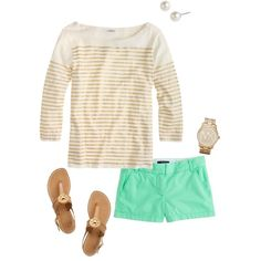 Untitled #50 by michaela1123 on Polyvore featuring J.Crew, Tory Burch, Givenchy and Michael Kors