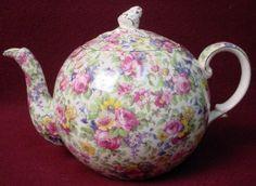 Royal Winton China Summertime Gold Trim Elite Teapot with Lid Spout NIP | eBay
