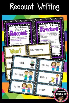 This Recount Writing pack will provide you with resources to teach and practice…
