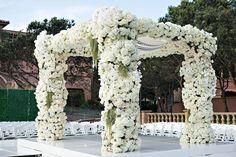 A dream beginning for the lovely bride and groom.... || Venue: @fairmontgranddelmar | Planning  Design: @internationaleventco | Florals: @marksgarden | Lighting: @thelightersidela | DJ: @liventgroup | Photographer: @jessicaclaire Videographer: @davidmedillproductions | Rentals: @palacepartyrental | Cake: @jandlcakes