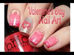 Valentine's Day Nail Art Tutorial - See the new HUGE Mochi Stamper from Bundle Monster in action!  |  Sassy Shelly  ~ SUBSCRIBE to my channel (www.youtube.com/MissShelly129) for more nail art how-tos     #nails #nailart #nailtutorial