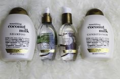 I recently received some cool coconut hair products from OGX and I have a lot to say about the products but before I get into it, here is what the brand has to say about the Coconut Milk range: Is … Source by bupsumayyayla Coconut Milk Hair, Coconut Oil Hair Mask, Leave In, Coconut Conditioner, Coconut Shampoo, Shampoo And Conditioner, Hair Boost, Natural Hair Treatments, Do It Yourself Fashion