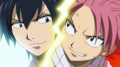 Fairy Tail: Gray and Natsu, looks like me and my friend when we think of somethiing evil. Oh Gray! Im fangirling right now! Fairy Tail Gray, Natsu Fairy Tail, Fairy Tail Manga, Fairytail, Black Butler, Gray Fullbuster, Natsu And Gray, Fairy Tail Photos, Fairy Tail Guild
