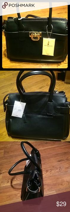BLACK SATCHELL. $16.00 David Jones Inspired NEW NEW NEW NEW NEW NEW NEW  Price Firm.  Didn't buy on Rodeo Drive, but presentable useable and new. GOOD STARTER FOR YOUNGSTER. MY PROMISE - you will not be diappointed    David Jones SATCHELL $69.00. NOW $16.00  Designer inspired soft leather satchel bag. Top zipper closures. Comes with detachable shoulder strap. It's INSPIRATIONAL.  ONLY $16.00. New David Jones Bags Satchels