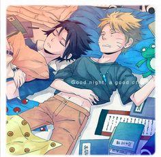 Naruto and Sasuke sleeping Sasuke X Naruto, Anime Naruto, Naruto Shippuden, Kid Naruto, Manga Anime, Sasunaru, Narusasu, Anime Rules, Yaoi Hard