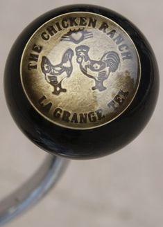 The Chicken Ranch, La Grange, Texas Brothel Token Shift Knob