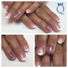 #shortnails #nails #gelnails #french #handpainted #roses #nailart #glitter #kurzenägel #nägel #gelnägel #french #handgezeichnete #rosen #nagelkunst #nagelstudio #möhlin #nailqueen_janine