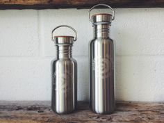 Reusable steel & bamboo water bottle | Surfers Against Sewage