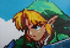 Legend of Zelda  Eye catching Link pixel art piece hama beads (A4 in size 29.7 x 21 cm)  by kendaljames