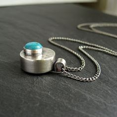 How to Make a Hollow Form Pendant With Turquoise Cabochon : Cinnamon Jewellery // #jewelrymaking